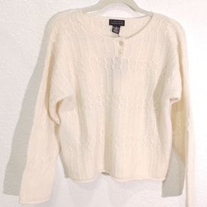 Limited  Vintage Cable knit Ceam Sweater S New